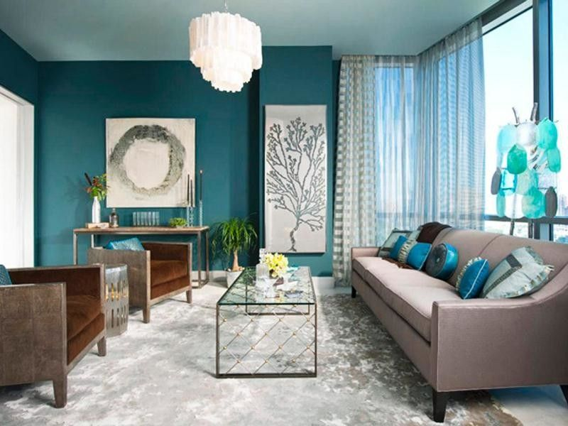 Colorful living room is really nice.