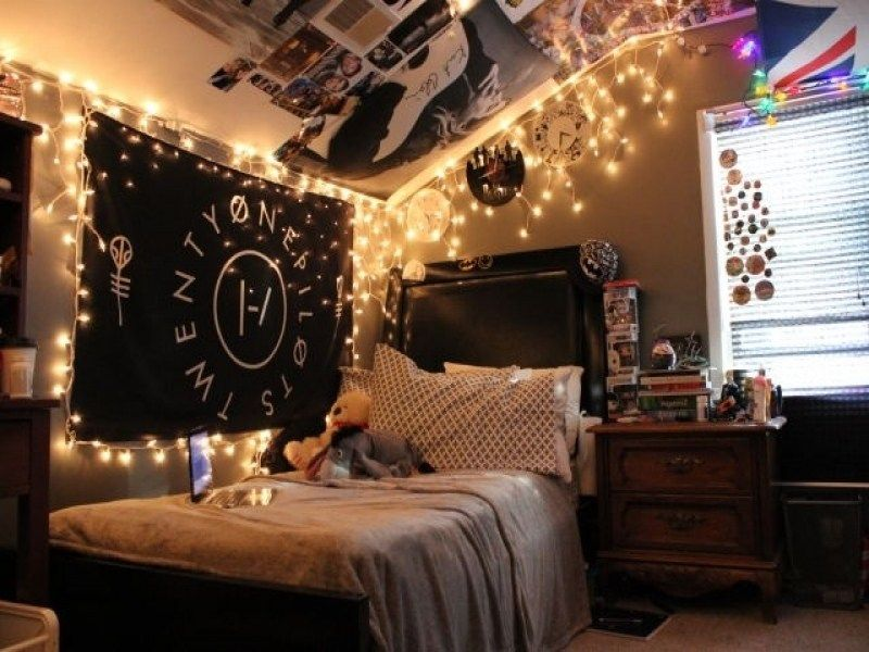 Use Tumblr lamp around the bed.