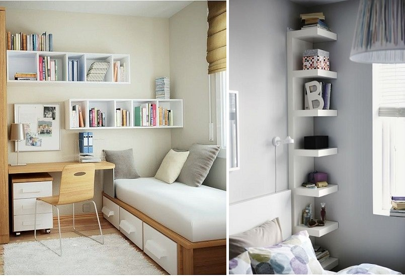 Minimizes the use of small room.