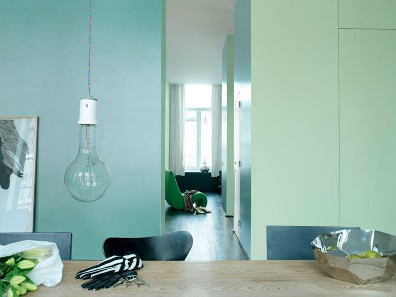 pastel colors as a base of the house.