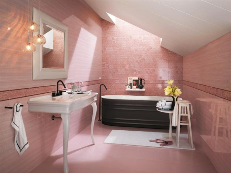 sweet the bathroom with pastel colors.