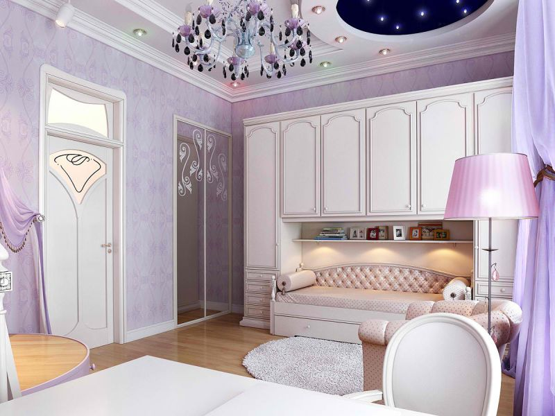 elegant bedroom by using pastel colors.