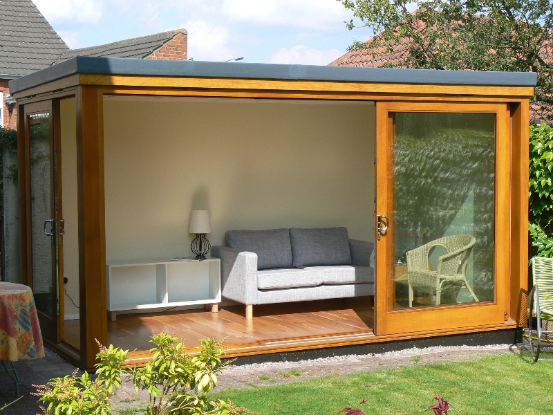 Build a small room in the garden.