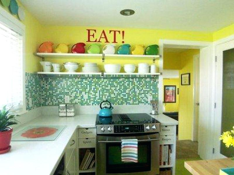 Green colors is suitable for the kitchen.