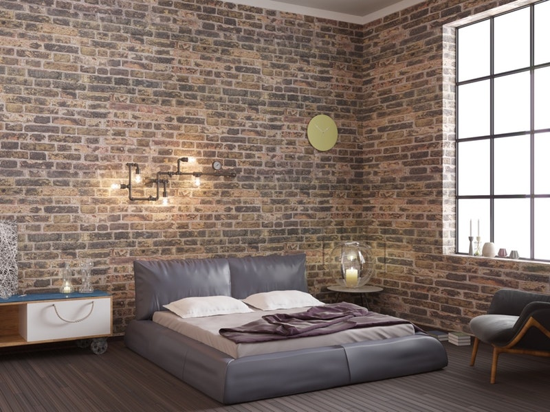 exposed brick wall for the bedroom.