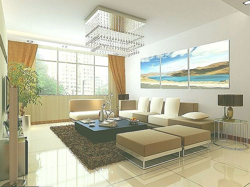 rectangular pendant lamp for beautify the living room.