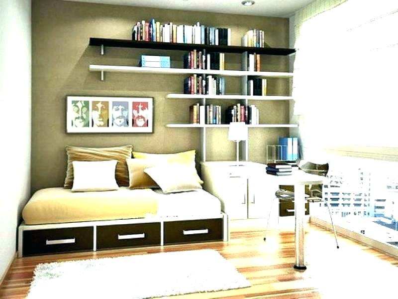 Floating shelves for the bedroom.