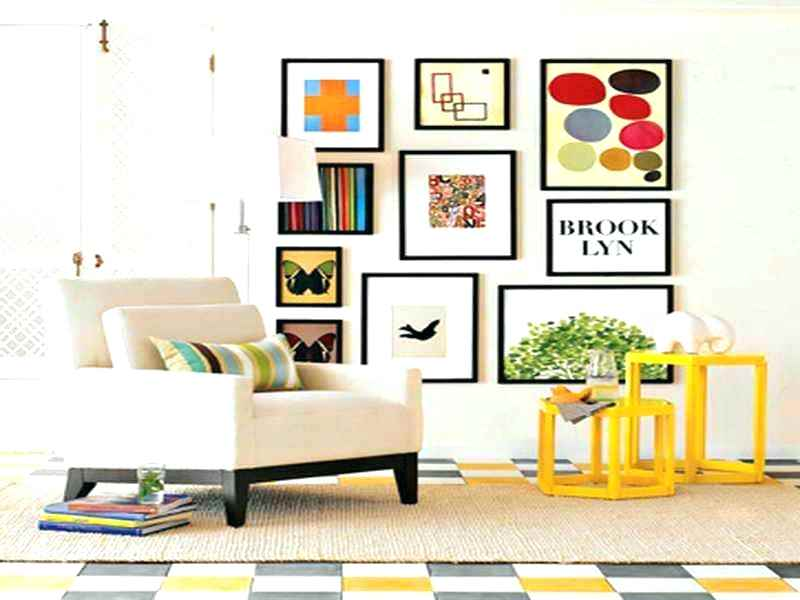 wall pictures frame for narrow living room.