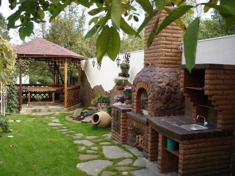 a simple design for barbecue garden.