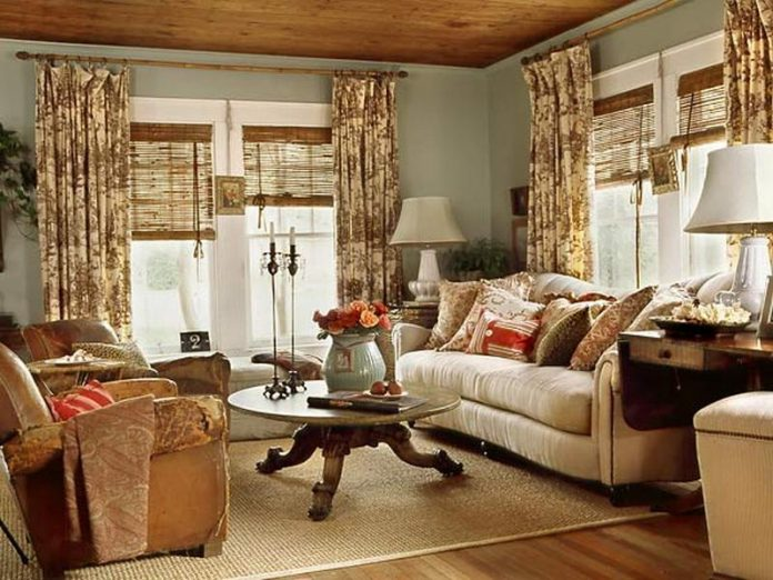 Vintage-Style Living Room Design