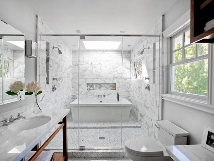 Take A Look At Modern Vintage Bathroom Design Ideas Combined White Color Scheme