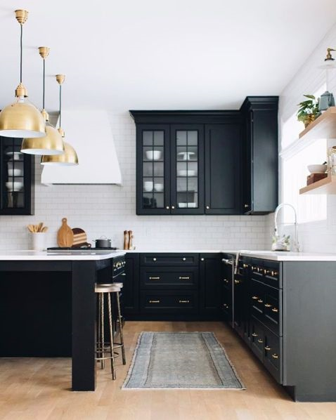 Luxurious Kitchen Black Cabinets Design Ideas To Complete Your Modern Kitchen Appearance