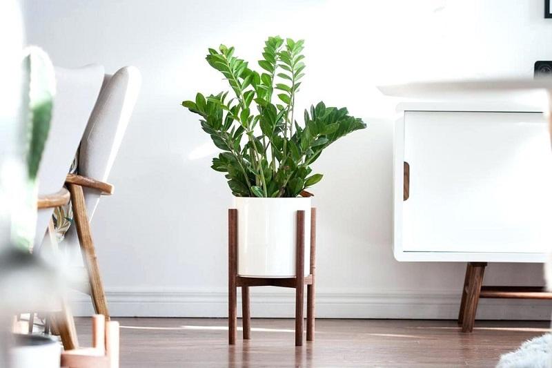 15 Modern Wood Leg Standing Planter