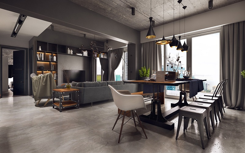 The Best Industrial Dining Room Design Ideas | Simdreamhomes