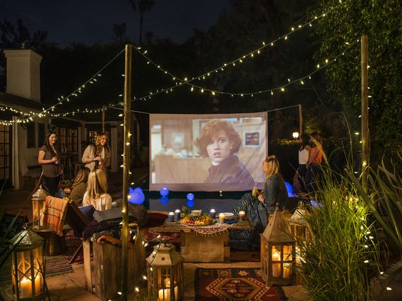 movie backyard party