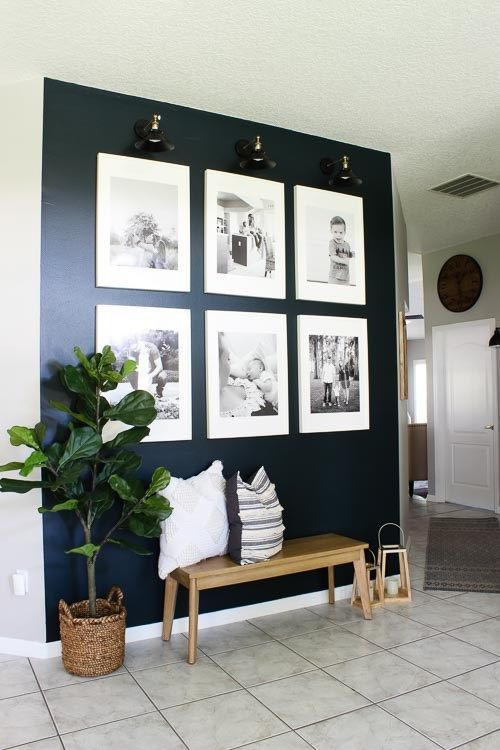 gallery wall photos with b&w effect