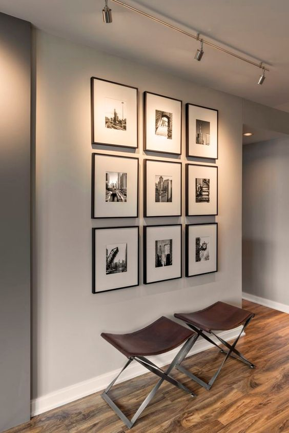 Attractive wall gallery ideas