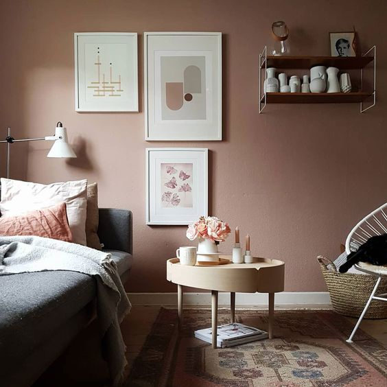 pastel pink wall paint
