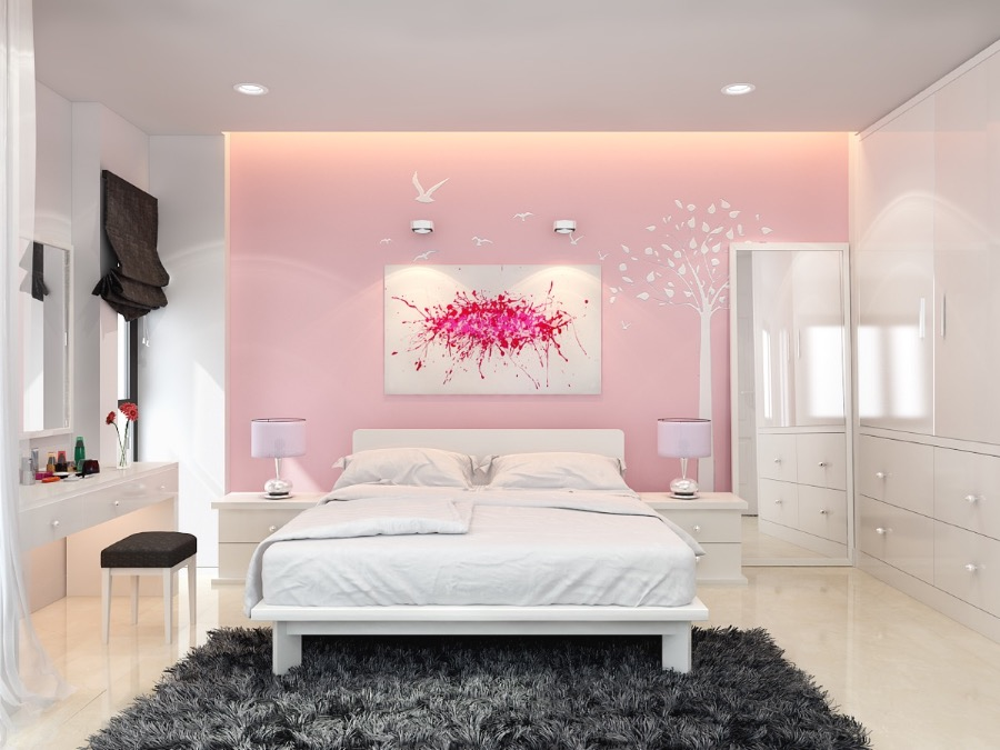 Pink Bedroom Wall Paint Ideas Including the Advantage ...