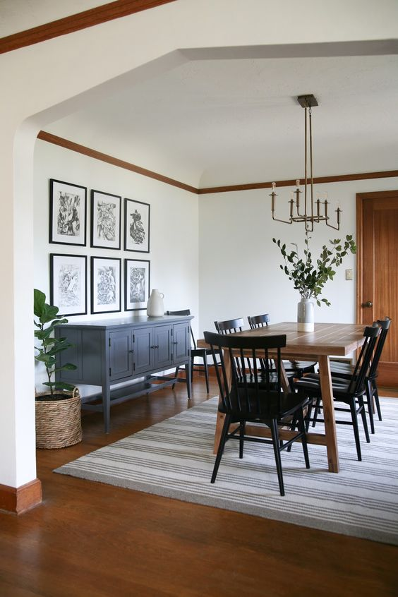 attractive dining room