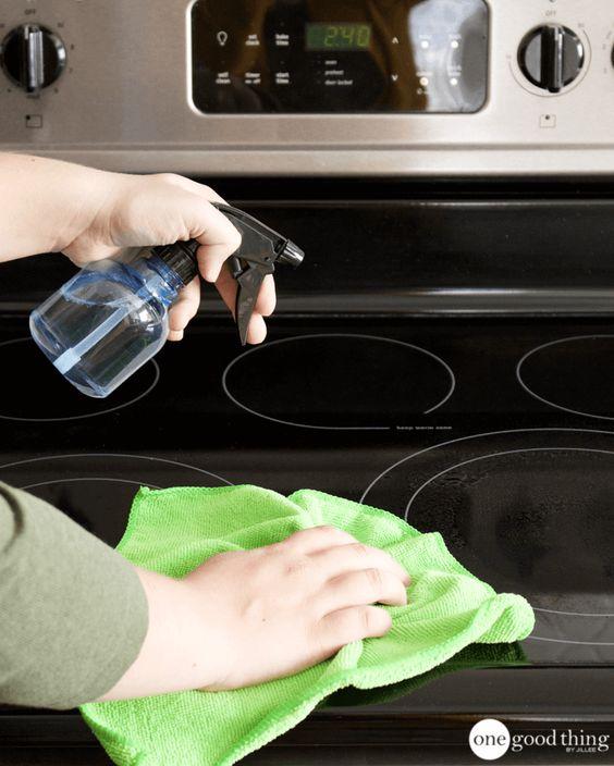 clean stove kitchen