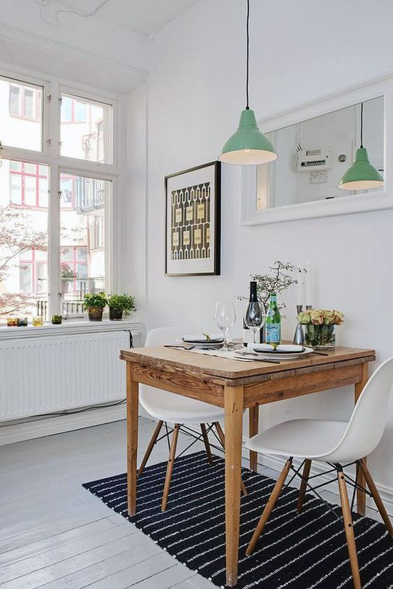 small dining room scandinavian design
