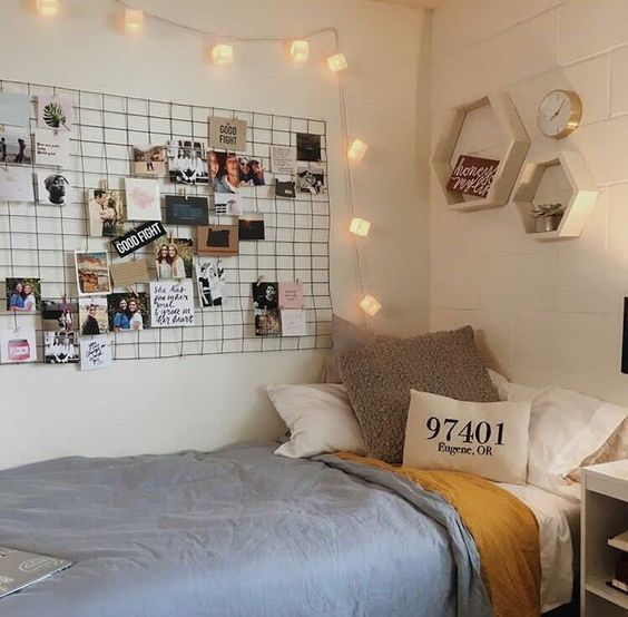 wall grid for bedroom decor
