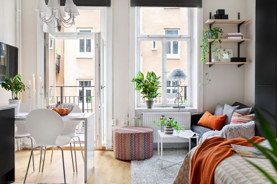 tiny apartment bedding
