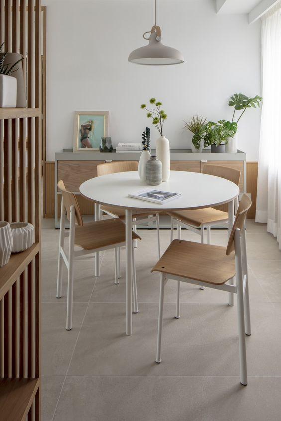 fresh japanese scandinavian dining room