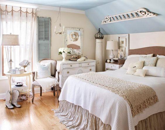 soft look shabby chic bedroom