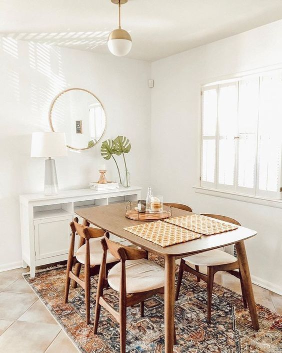 minimalist small dining room
