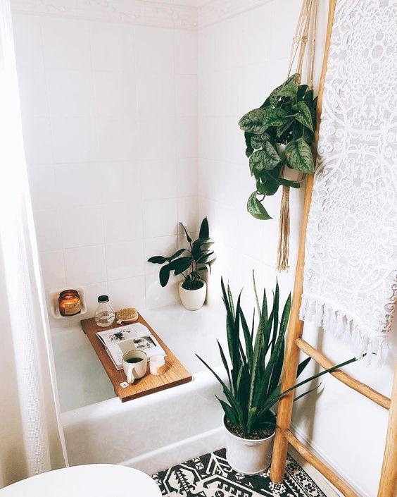 fresh bathroom corner