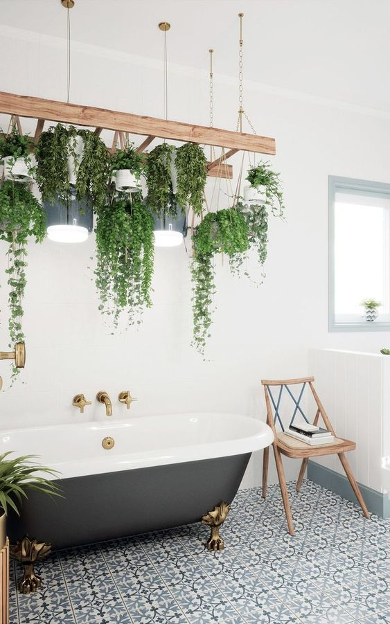interesting bathroom decors with ladder