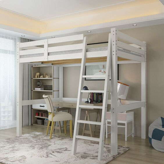 bunk bed use for small apartment decors