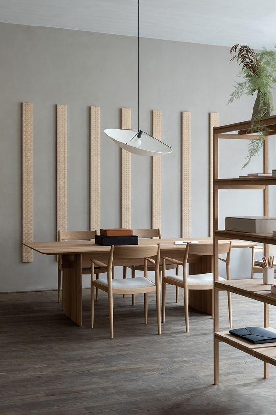 cozy japanese scandinavian dining room
