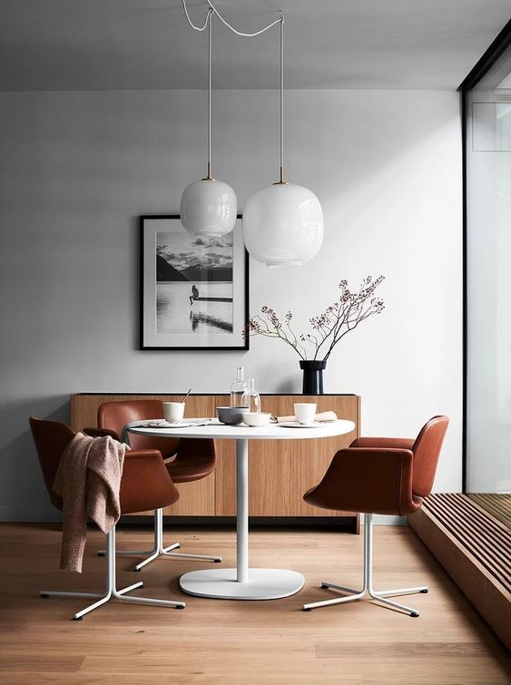 simple dining room japanese scandinavian