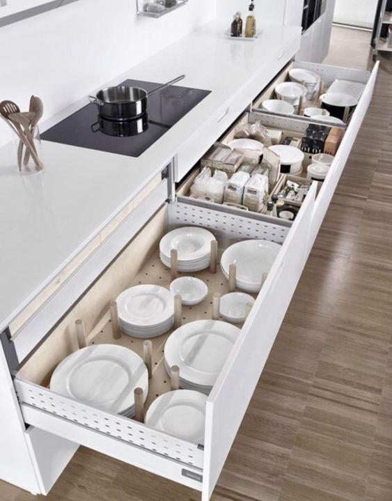 neat kitchen stuff by using kitchen storage