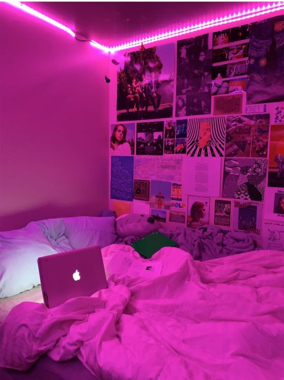 pink led string light