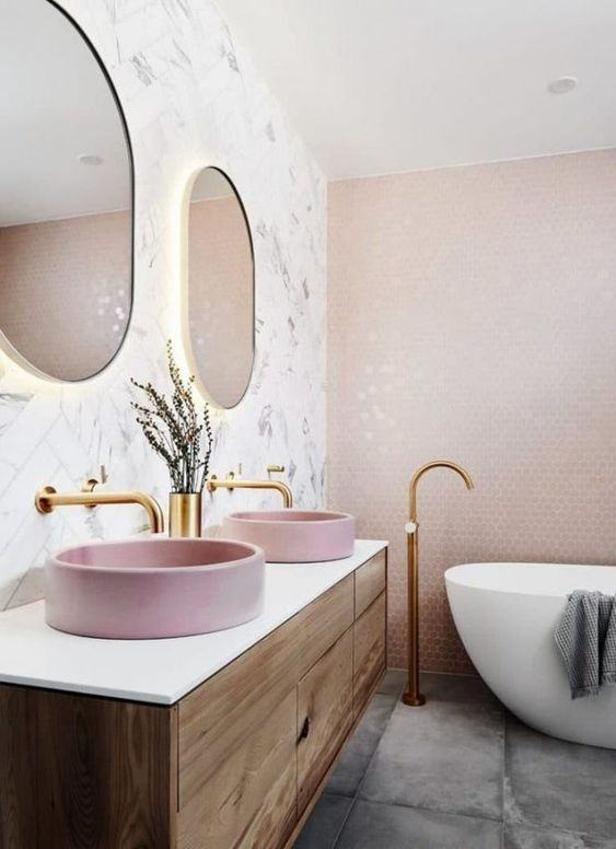modern pink bathroom ideas