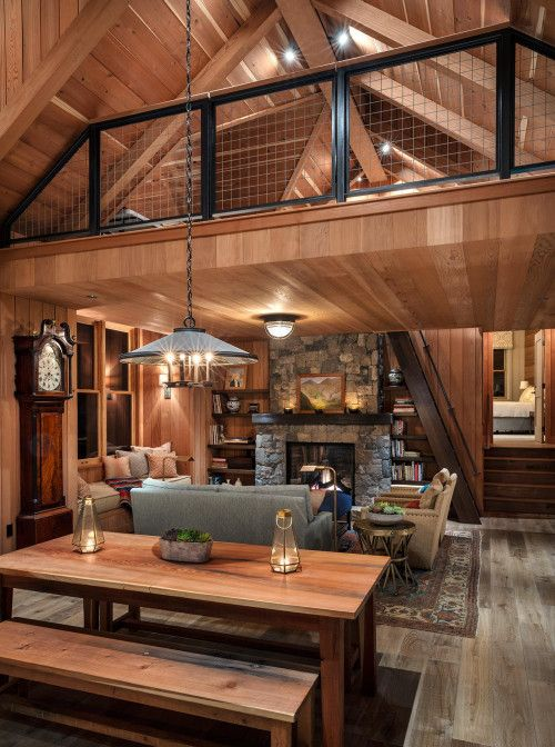 wood elements for rustic living room