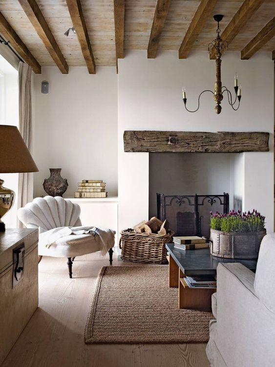 bright rustic living room
