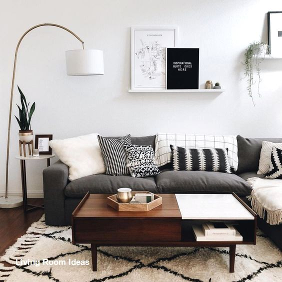 Attractive Scandinavian Small Living Room