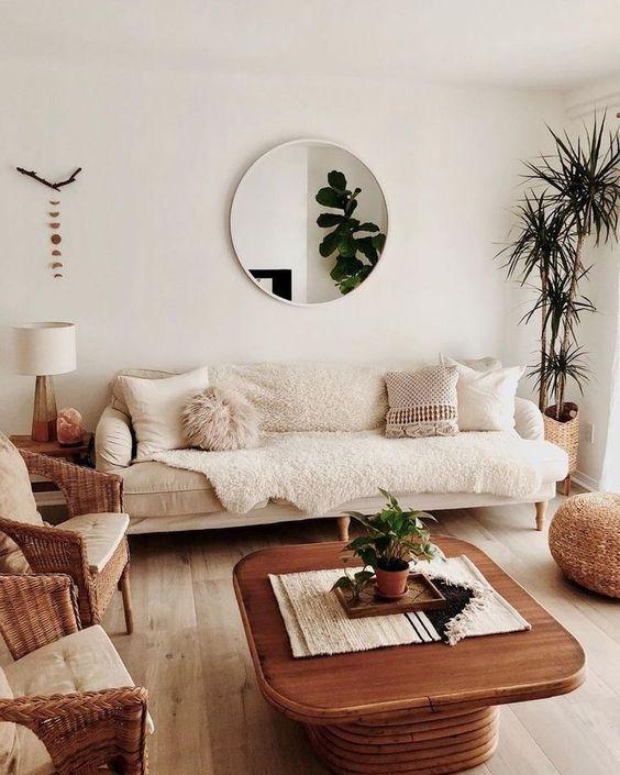 warm and cozy scandinavian living room