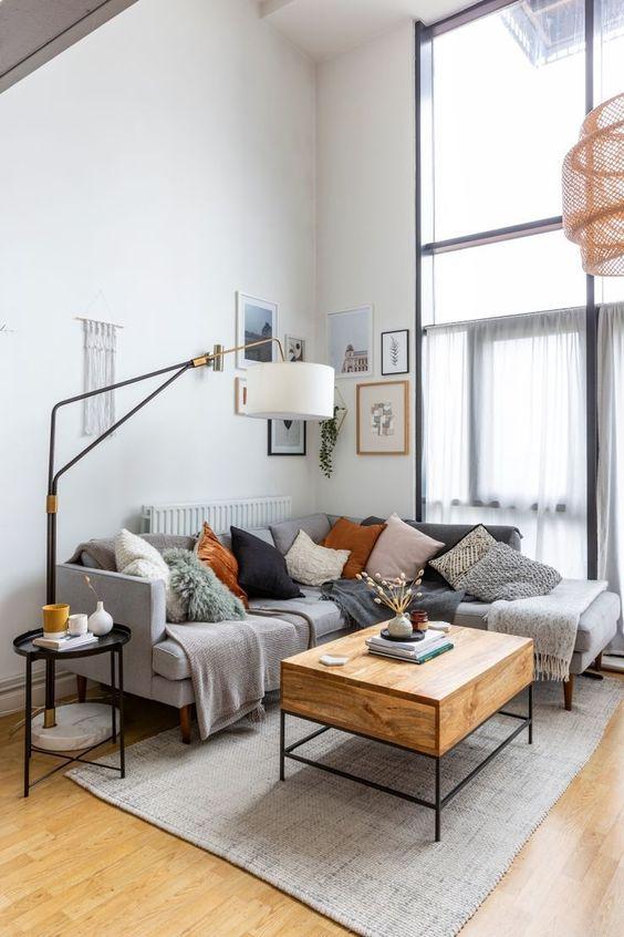 rustic scandinavian small living room