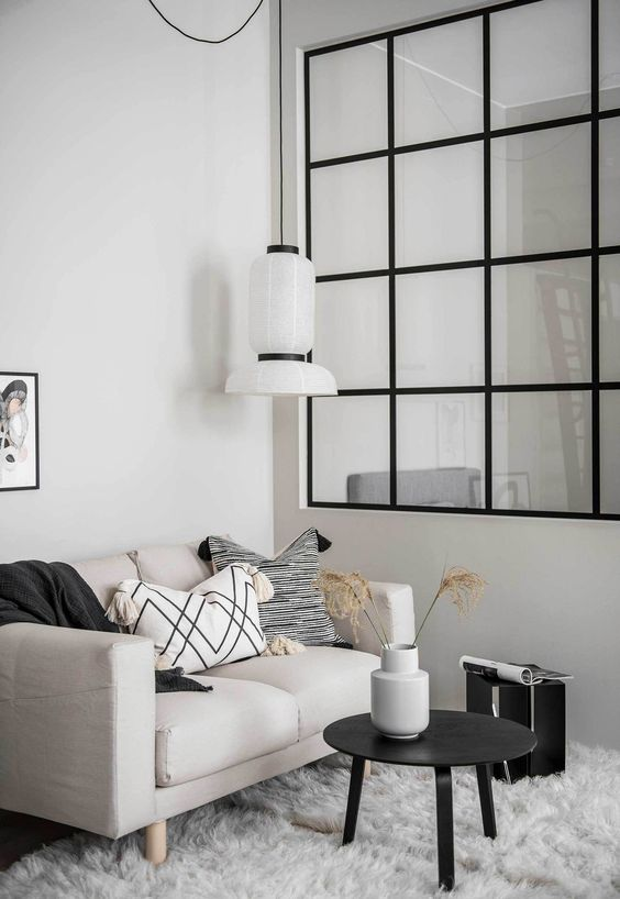 Striking Scandinavian Small Living Room