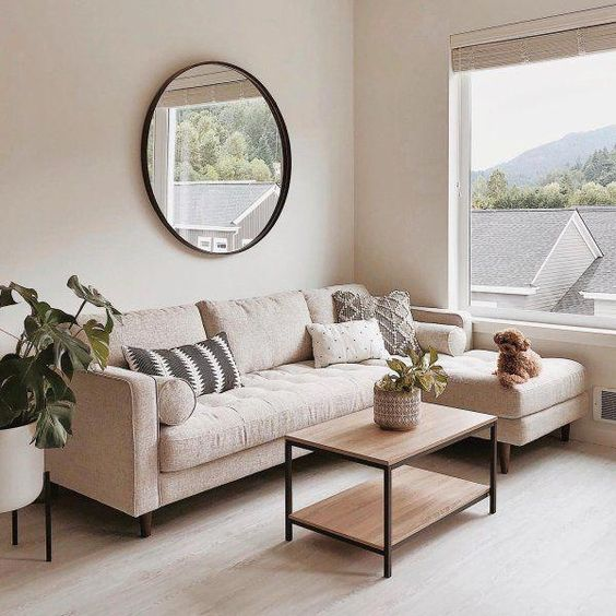 Warm Nuance in Scandinavian Small Living Room