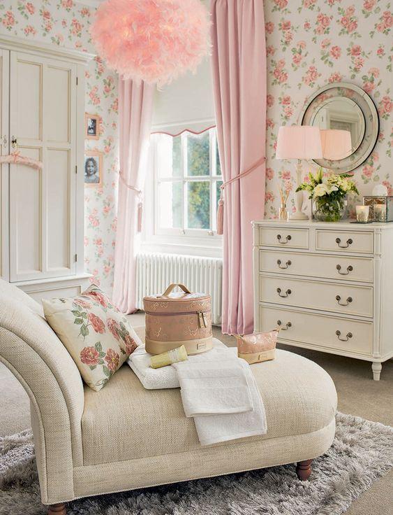 bright shabby chic bedroom