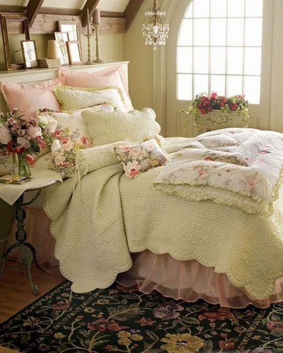 shabby chic vintage bedroom