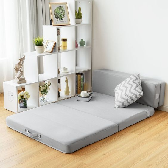 folding sofa to make the small apartment spacious