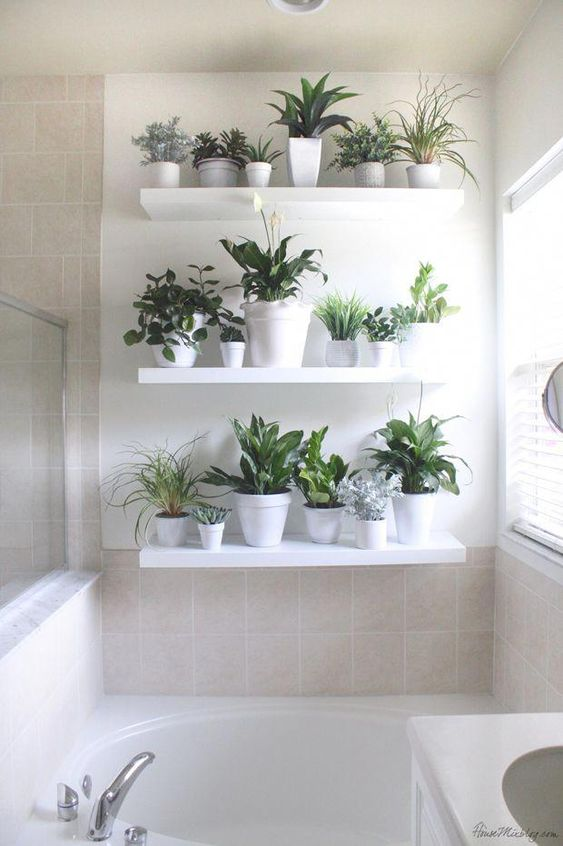 floating wall shelves for bathroom decors